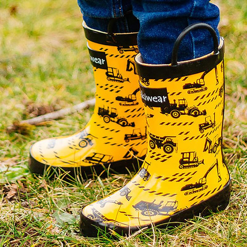 【美國OAKI】兒童提把雨鞋 11585 工程車