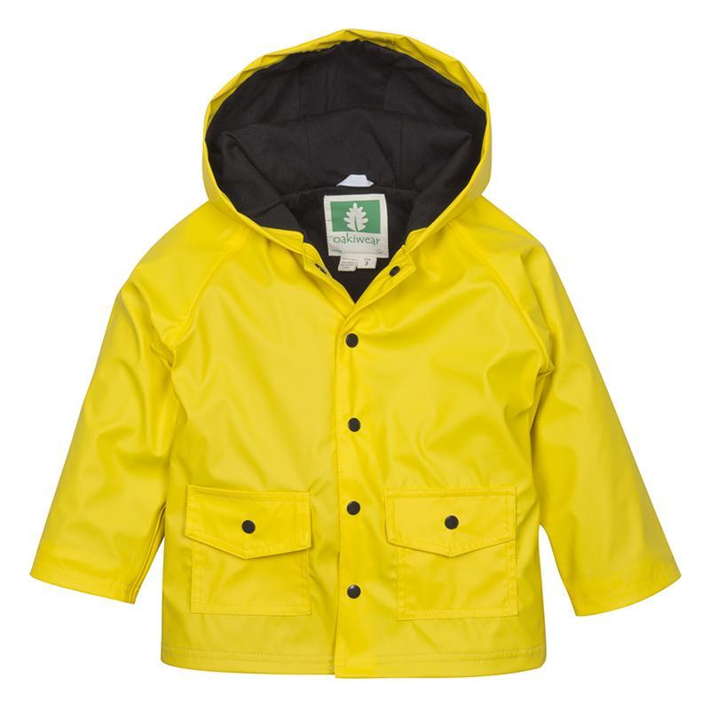 無毒!【美國OAKI】兒童防水外套/擋風雨衣 60503 黃黑配 晴雨兩用 男女適用 (4t-10)