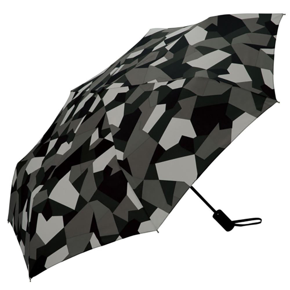 日本KIU ASC UMBRELLA自動開合雨傘/抗UV陽傘 65103 抽象迷彩