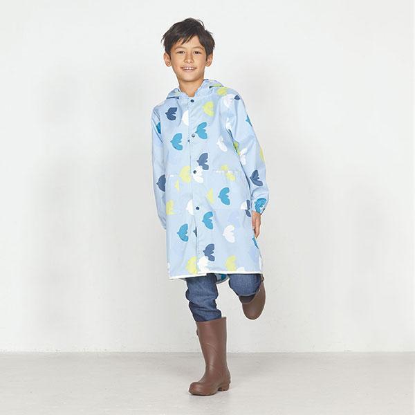 日本WPC 悠遊鳥M 空氣感兒童雨衣/防水外套 附收納袋(95-120cm)