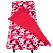 【LOVEBBB】符合美國標準 Wildkin 28601 粉紅迷彩 無毒幼教睡袋/午覺毯/兒童睡袋(3-7歲)