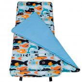 【LOVEBBB】 符合美國標準 Wildkin 28603 鯨豚世界 無毒幼教睡袋/午覺毯/兒童睡袋(3-7歲)