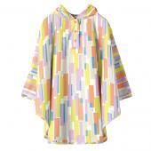 日本KIU 30095M 彩虹雨 空氣感兒童雨衣/披風式/寶寶雨披/防水披肩/斗篷 附收納袋(100cm+)