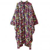 日本KIU 29080 波希米亞花園 空氣感雨衣/親子雨披/防水斗篷 騎車露營必備 附收納袋(男女適用)