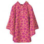 日本KIU 30043M 粉紅哈娜 空氣感兒童雨衣/披風式/寶寶雨披/防水披肩/斗篷 附收納袋(100cm+)