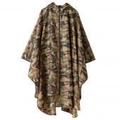 日本KIU 29023 棕迷彩 空氣感雨衣/親子雨披/防水斗篷 騎車露營必備 附收納袋(男女適用)