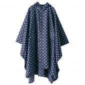 日本KIU 29028 藍底白點 空氣感雨衣/親子雨披/防水斗篷 騎車露營必備 附收納袋(男女適用)
