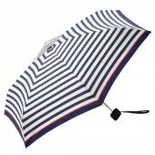 日本KIU 輕巧摺疊抗UV晴雨傘 31041 海軍藍紋