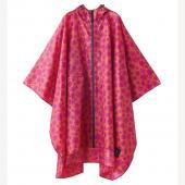 日本KIU 29043 粉紅哈娜 空氣感雨衣/親子雨披/防水斗篷 騎車露營必備 附收納袋(男女適用)