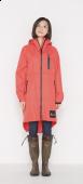 日本KIU 116909 粉紅色 空氣感雨衣/時尚防水風衣 附收納袋(男女適用)