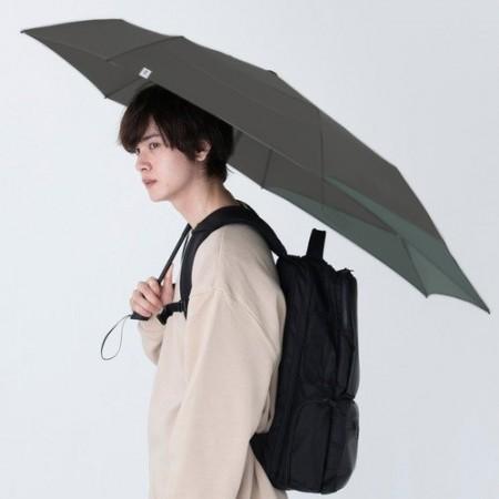 日本Wpc. Folding Umbrella 背保護摺疊傘 MSS-030鐵灰色 摺疊/抗UV晴雨傘 附收納袋