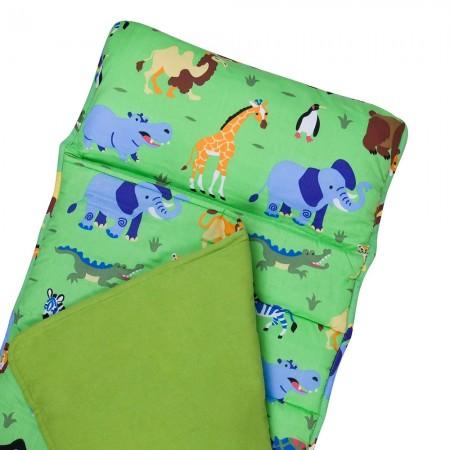 【LOVEBBB】符合美國標準 Wildkin 28080 野生動物園 無毒幼教睡袋/沙發毯/午睡墊 (3-7歲)
