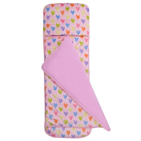 [LoveBBB] 無毒幼教睡袋 符合美國標準 Wildkin 24008 塗鴉愛心 捲捲收兒童長絨睡袋(2-7)