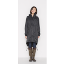 日本KIU 116900 黑色 空氣感雨衣/時尚防水風衣 附收納袋(男女適用)