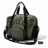 日本 KiU 107906 軍綠色 高機能空氣感 可秒收摺 防潮防水 隨身旅行袋