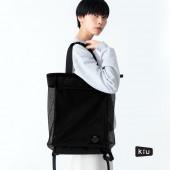 日本 KiU 112900 黑色 側背後背2用大容量托特包: 一包變兩包, 內袋可抽出變防水購物袋