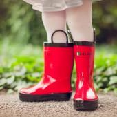 【美國OAKI】兒童提把雨鞋 11501 辣椒紅