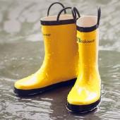 【美國OAKI】兒童提把雨鞋 11503 香蕉黃