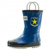 【美國OAKI】兒童提把雨鞋 115155 巡警藍
