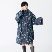 日本KIU 77106 Just Get Wet!! 藍色夏威夷 空氣感長袖雨衣/防水風衣 都會通勤必備 附收納袋(男女適用)
