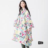 日本KIU 64124 美好假期 空氣感雨衣/親子雨披/防水斗篷 騎車露營必備 附收納袋(男女適用)