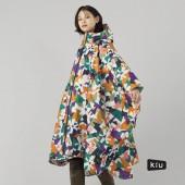日本KIU 64164 無垠 空氣感雨衣/親子雨披/防水斗篷 騎車露營必備 附收納袋(男女適用)