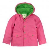 無毒!【美國OAKI】兒童防水外套/擋風雨衣 65080 粉綠配 晴雨兩用 男女適用 (4t-10)
