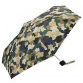 日本KIU 輕巧摺疊抗UV晴雨傘 31141 迷彩花朵
