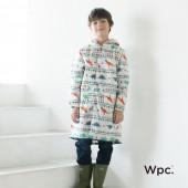 日本WPC 白堊紀恐龍L 空氣感兒童雨衣/防水外套 附收納袋(120-140cm)