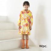 日本WPC 克拉拉花朵L 空氣感兒童雨衣/防水外套 附收納袋(120-140cm)