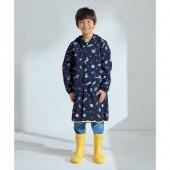 日本WPC 太空探險M 空氣感兒童雨衣/防水外套 附收納袋(95-120cm)